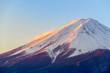Leinwandbild Motiv Fuji mountain with snow cover on the top