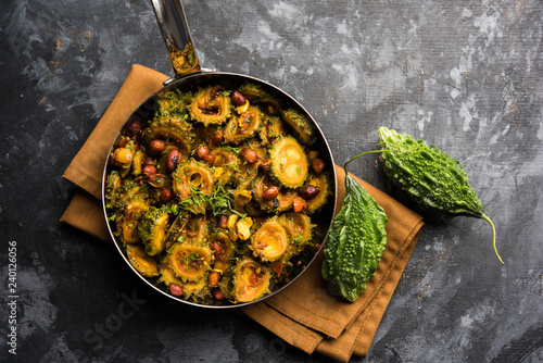 Delicious bitter melon curry, a healthy food from India Wallpaper Mural