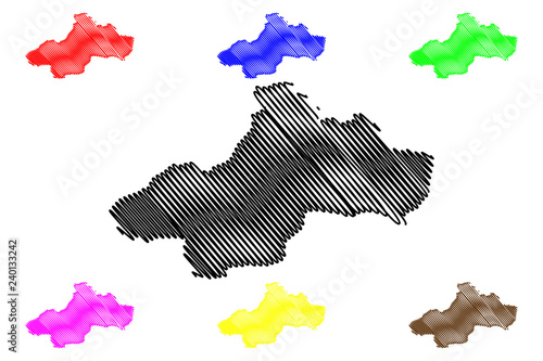 Tokat (Provinces of the Republic of Turkey) map vector illustration ...