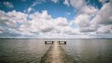 Fototapeta  - Badesteg an der Nordsee - Jadebusen