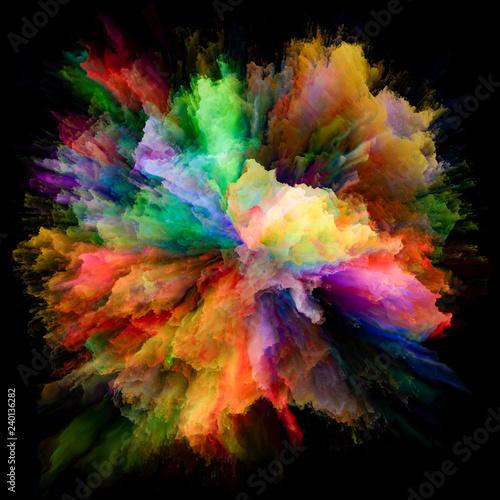 Fotografie, Obraz  Synergies of Color Splash Explosion