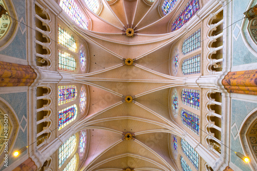 france, beauce,chartres : cathedral inside