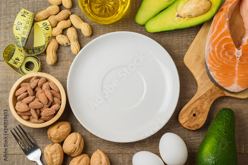 Ketogenic low carbs diet concept. Canvas Print