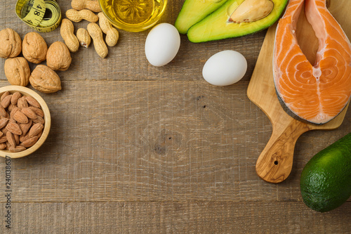 Ketogenic low carbs diet concept. Wallpaper Mural