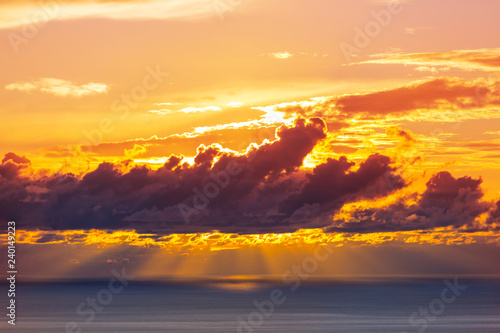 Obraz premium Scena zachodu słońca