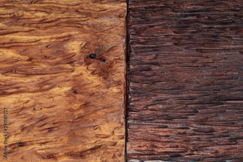 Fotografía  Beautiful wood background combined in light and dark tones (ocher, brown, tan, golden and black)