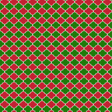Red And Green Quatrefoil Seaml...
