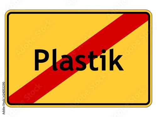 Fotografia  Plastik-Verbot