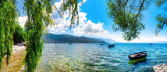 Fototapeta Rzeki i Jeziora View of the scenic lake Ohrid, Ohrid, Macedonia