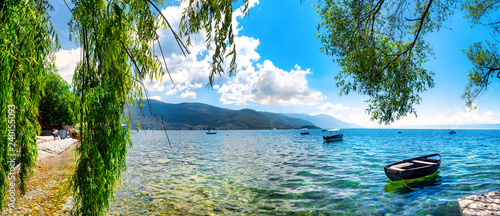 Stampa su Tela View of the scenic lake Ohrid, Ohrid, Macedonia