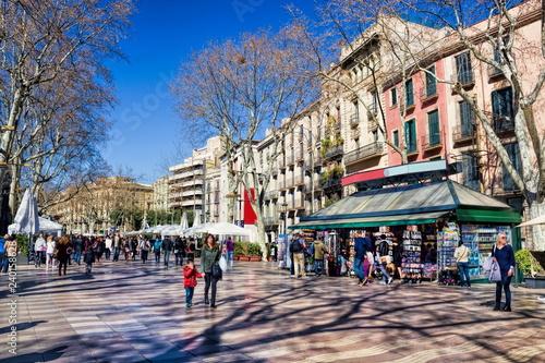 Spoed Fotobehang Barcelona Barcelona, Rambla