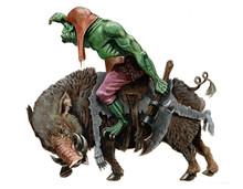 Orc On The Boar. Fantasy Acryl...