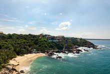 Aerial View To Manzanillo Beac...