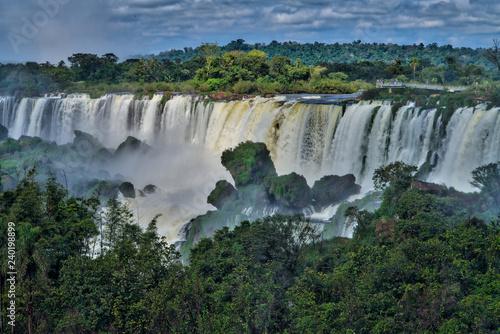 Küchenrückwand aus Glas mit Foto Wasserfalle Iguazu Falls