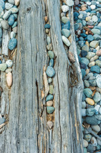 Beach Pebbles And Driftwood Lo...