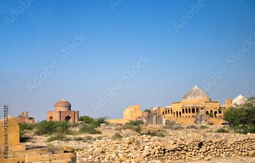 Fotografie, Obraz  Makli graveyard the UNESCO heritage civilization site in the Sindh province of P