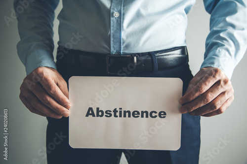 Photo abstinence text on page
