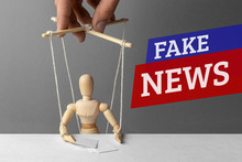 Fake News. The Correspondent As The Doll Controls The Puppeteer. False Information To Deceive People