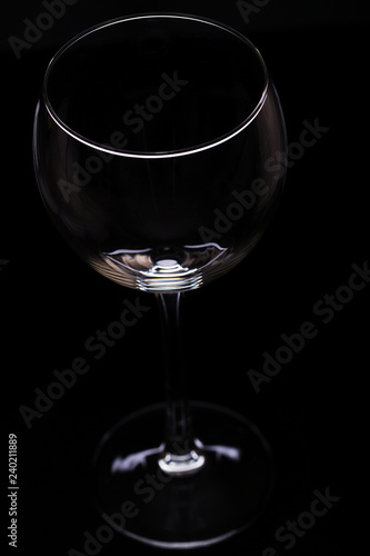 Wine glasses on a black background, silhouette, minimalism