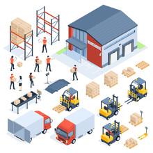Isometric Warehouse Logistic. ...
