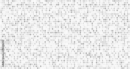 Binary matrix code Canvas Print