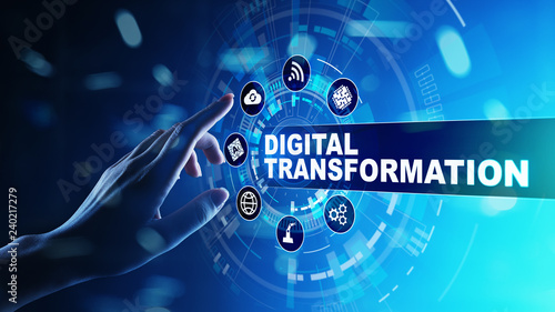 Cuadros en Lienzo  Digital transformation, disruption, innovation