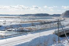 厚岸水鳥観察館から見る別寒辺牛湿原の風景