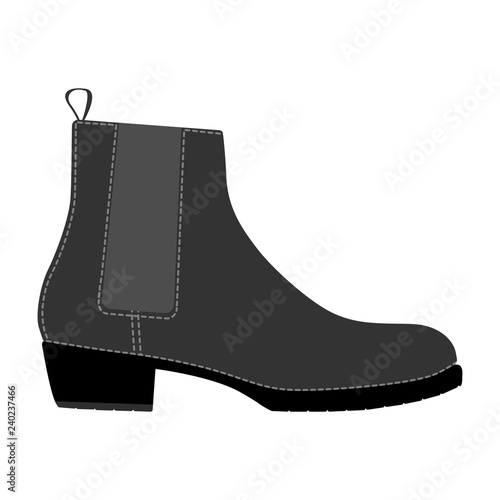 Photo  Men shoes boots isolated. Male man season shoes icons.