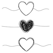 Tangled Grungy Heart Round Scr...