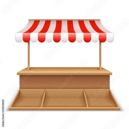 Carta da parati Empty market stall
