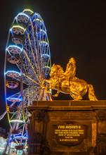 Goldener Reiter, , Riesenrad, ...