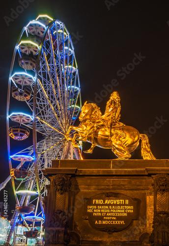 Foto  Goldener Reiter, , Riesenrad, Hauptstrasse