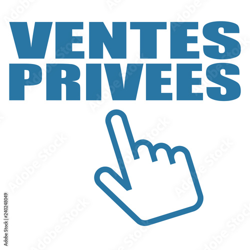 Fotografie, Obraz  Logo ventes privées.