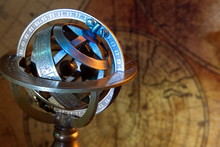 Old Zodiac Globe,astrological.Vintage Map And Retro Style