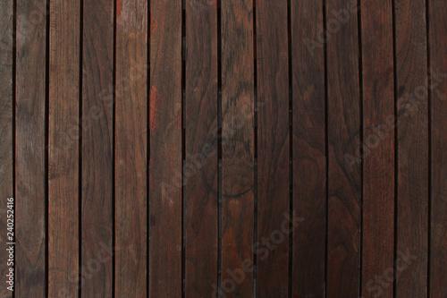 Fototapeta dark brown wood texture with used look obraz na płótnie