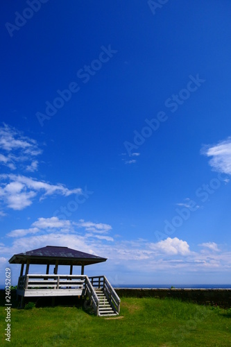 Fotografie, Obraz  三陸海岸国立公園。重茂半島、魹ヶ崎より太平洋を臨む。宮古 岩手 日本。5月下旬。