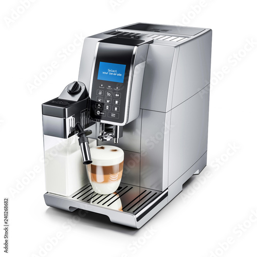 Slika na platnu Modern automatic coffee machine. 3d