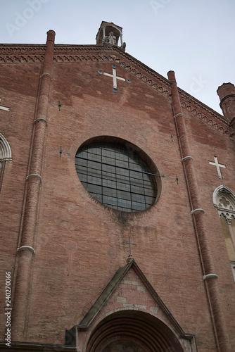 Bologna, Italy - December 18, 2018 : View of San Giacomo Maggiore ...
