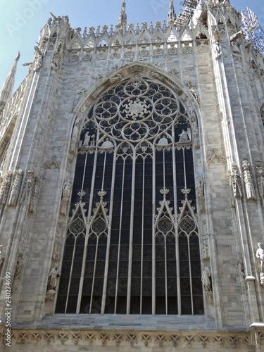 Fotografía  Catedral de Milán (Duomo di Milano), estilo gótico.