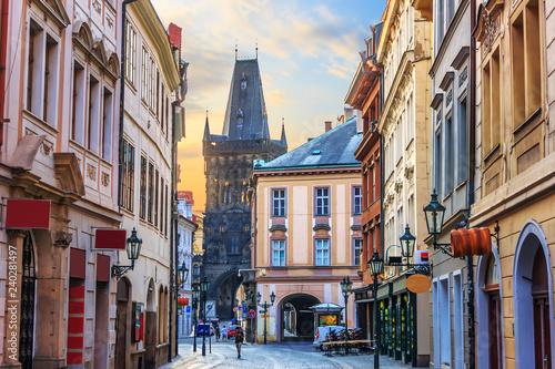 Prague street Celetna, part of the Royal Route close to the Powd