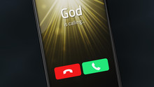 God Is Calling On A Smartphone