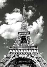 Eiffel Tower In Paris And Whit...