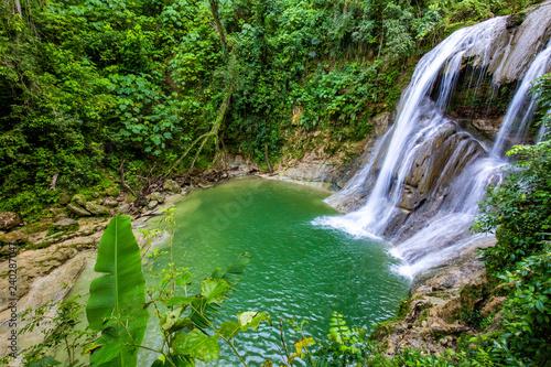 Fototapeta Beautiful Gozalandia Waterfall in San Sebastian Puerto Rico