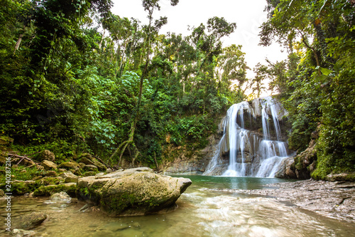 Beautiful Gozalandia Waterfall in San Sebastian Puerto Rico