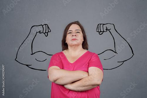 foto de femme forte avec muscles dessinés - Buy this stock photo and ...