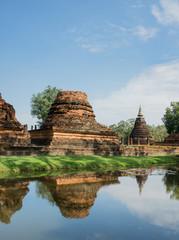 Fototapeta na wymiar Buddhist temple ruins in Sukhothai historical park,Thailand