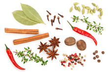 Mix Of Spices Isolated On A Wh...