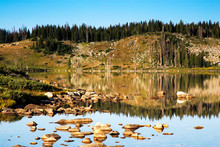 Libby Lake Sunrise In The Snowy Range Mountains Of Wyoming