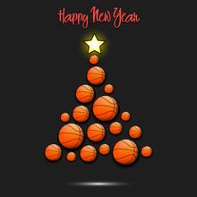 Christmas Tree From Basketball...