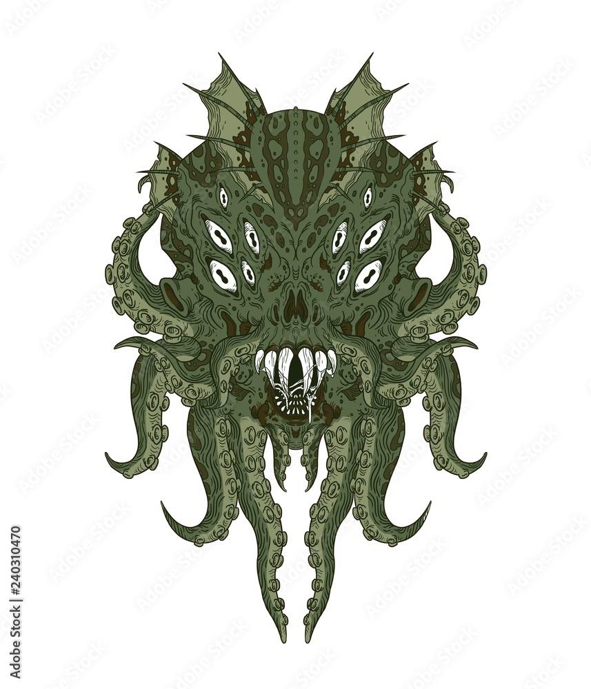 Fotografie, Obraz Cthulhu monster, Lovecraft creature